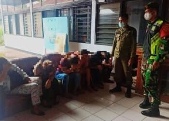 Sejumlah Warga Kabupaten Gorontalo terjaring Razia Personel Gabungan. (Foto : Istimewa)
