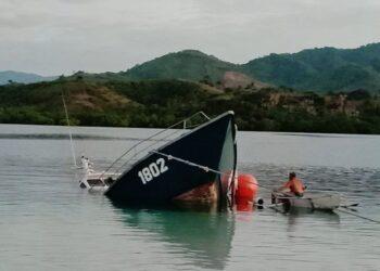 Kondisi terkini Kapal Todak 02 yang dihibahkan KKP-RI ke Pemkab Boalemo pada Tahun 2020 lalu. (Foto : Istimewa)