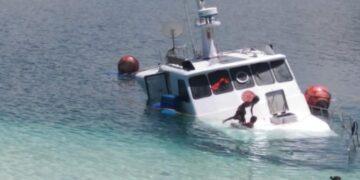 Kondisi terkini Kapal Todak 02. (Foto : Istimewa)