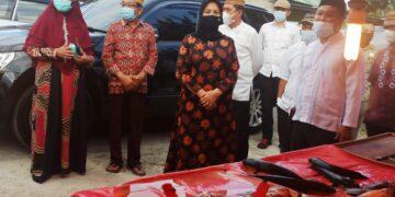 Pemkab Gorontalo di salah satu Pasar Tradisional Kabupaten Gorontalo. (Foto : Istimewa)