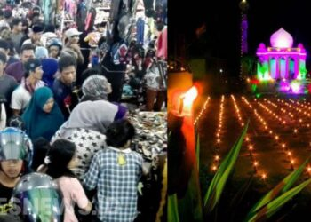 Ilustrasi tradisi malam pasang lampu (Tumbilotohe) Gorontalo. (Foto : Iskandar Badu)