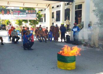 Simulasi pencegahan bencana oleh BPBD Kabupaten Gorontalo. (Foto : Istimewa)