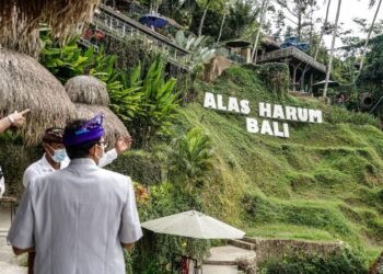 Kemenparekraf di Kawasan Wisata Alas Harum, Ubud, Kabupaten Gianyar, Bali. (Foto : Istimewa)