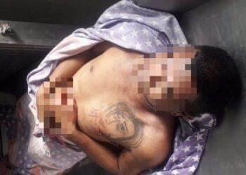 Korban penikaman yang terjadi di Terminal Andalas, Kota Gorontalo.