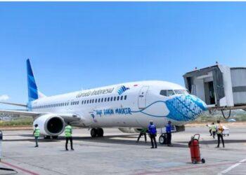 Pesawat Boeing B737-800NG dengan nomor registrasi PK-GFK yang akan digunakan pada rute domestik.