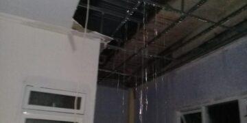 Kondisi Gedung baru IGD RSBP Pohuwato ketika hujan. (Foto : Istimewa)