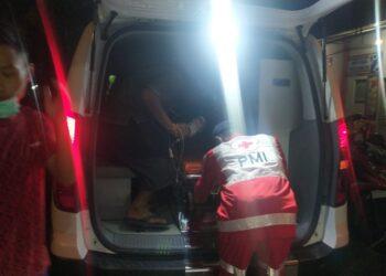 Proses Evakuasi korban keracunan lapas Gorontalo