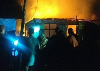 Peristiwa kebakaran. (Foto : Istimewa)