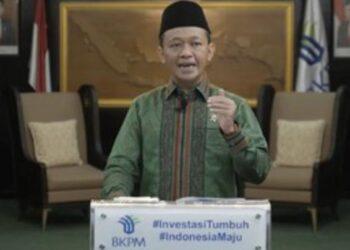 Menteri Investasi/Kepala Badan Koordinasi Penanaman Modal (BKPM) Bahlil Lahadalia saat berbicara pada penandatangan Head of Agreement (HoA) untuk membangun industri baterai listrik terintegrasi di Indonesia. BKPM