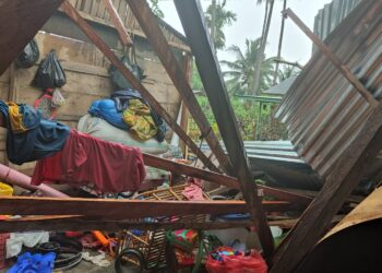 Kondisi rumah korban. (Foto : Mitro)