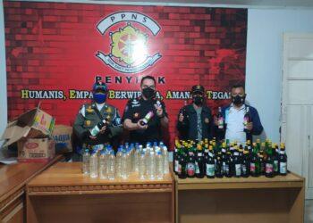 Satpol PP Kota Gorontalo mengamankan Ratusan Miras