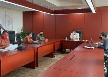 Pemkab Gorontalo saat audiens bersama Deputi Bidang Pengembangan Regional Kementerian Bappenas RI. (Foto : Istimewa)