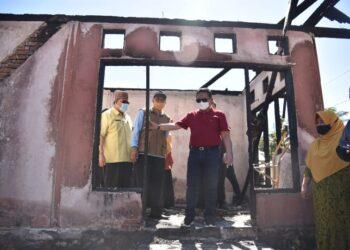 Baznas dan Dinsos Bantu Korban Kebakaran di Kota Gorontalo