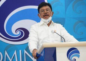 Menteri Kominfo Johnny G. Plate. (Foto : Indra Kusuma)