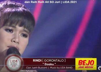 Penampilan perdana Rindi Batalipu, membawakan lagu Doaku di Lida 2021. (Tangkapan layar Vidio.com)