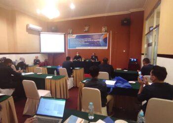 Bimtek pengambilan data penilaian kepatuhan terhadap UU No 25 Tahun 2009 tentang pelayanan publik di Provinsi Gorontalo Tahun 2021. (Foto : Istimewa)