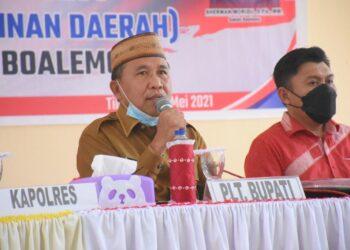 Anas Jusuf memimpin rapat Forkopimda. (Foto : Humas)