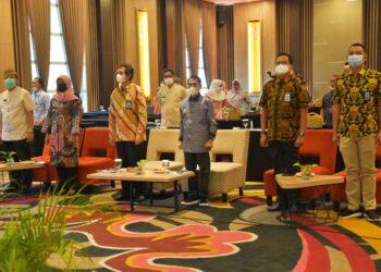Dokumentasi Pemkab Gorontalo saat Rakor terkait Alokasi DAK Tahun 2021. (Foto : Istimewa)
