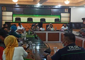 Rapat oleh jajaran Forkopimda Kabupaten Gorontalo, mengenai BSP. (Foto : Istimewa)