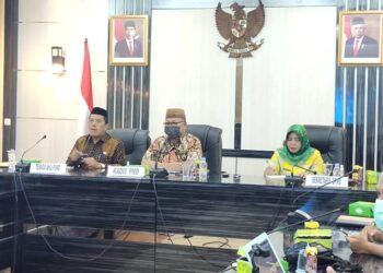Sosialisasi Peraturan Pemerintah Nomor 11 tahun 2021 Tentang Badan Usaha Milik Desa (BUMDES) Diruangan Tinepo Kantor Bupati Gorontalo Utara, Jumat (11/06/2021). (Foto: istimewa)