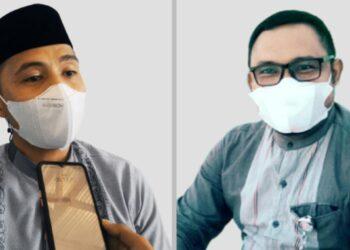 Ketua GPII  Pohuwato Abdul Irsak (Kiri), bersama ketua LP-KPK Pohuwato, Edo Sijaya. (Foto : Istimewa)
