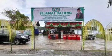 Suasana untuk penyambutan Menteri DPDTT. (Foto : Istimewa)
