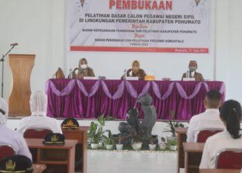 Pembukaan Pelatihan Dasar CPNS di Lingkungan Pemkab Pohuwato (Foto : Humas)