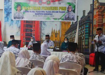 Pelantikan pengurus PGRI di 4 Kecamatan. (Foto : Istimewa)