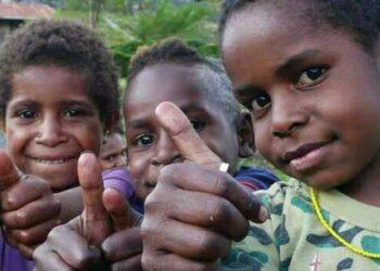 Ilustrasi anak Papua