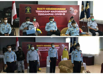 Gelar Bakti Sosial, Kanim Gorontalo Salurkan Bantuan Paket Sembako kepada 27 KK di Kota Gorontalo