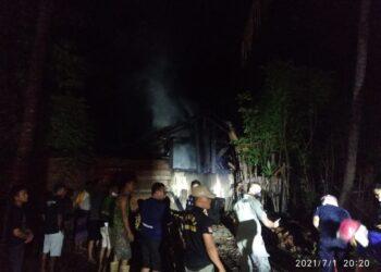 Kondisi usai pemadaman kobaran api. (Foto : Damkar Boalemo)