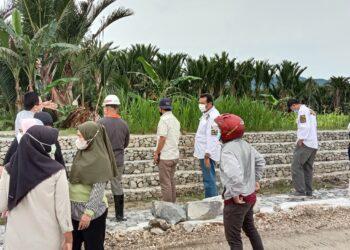 Dokumentasi pekerjaan bronjong. (Foto : Istimewa)