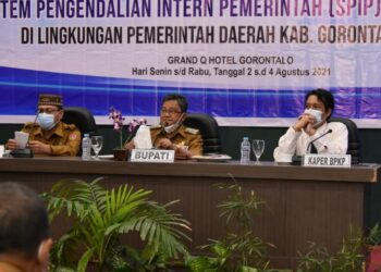 Indra Yasin (tengah) saat membuka kegiatan Bimtek SPIP. (Foto : Istimewa)