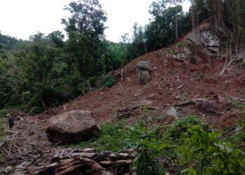Lokasi Pengerukan Batu Gajah di Desa Tibu (Foto: Tim SP2)